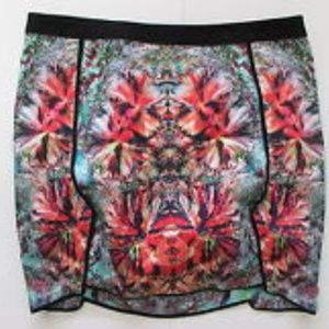 Bardot mini floral excon skirt